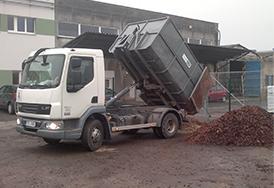 Odvoz odpadu, dovoz materiálu